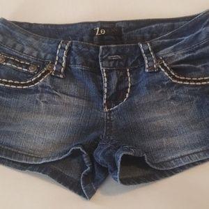 Z2 Jeans Brand blue denim 5 pocket shorts